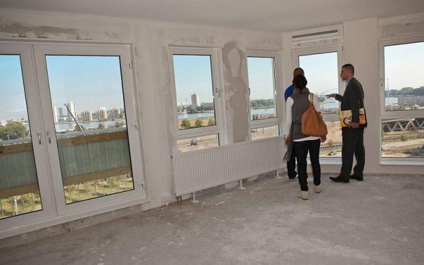 Onafgewerkt nieuwbouw appartement